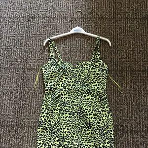 Yellow leopard dress
